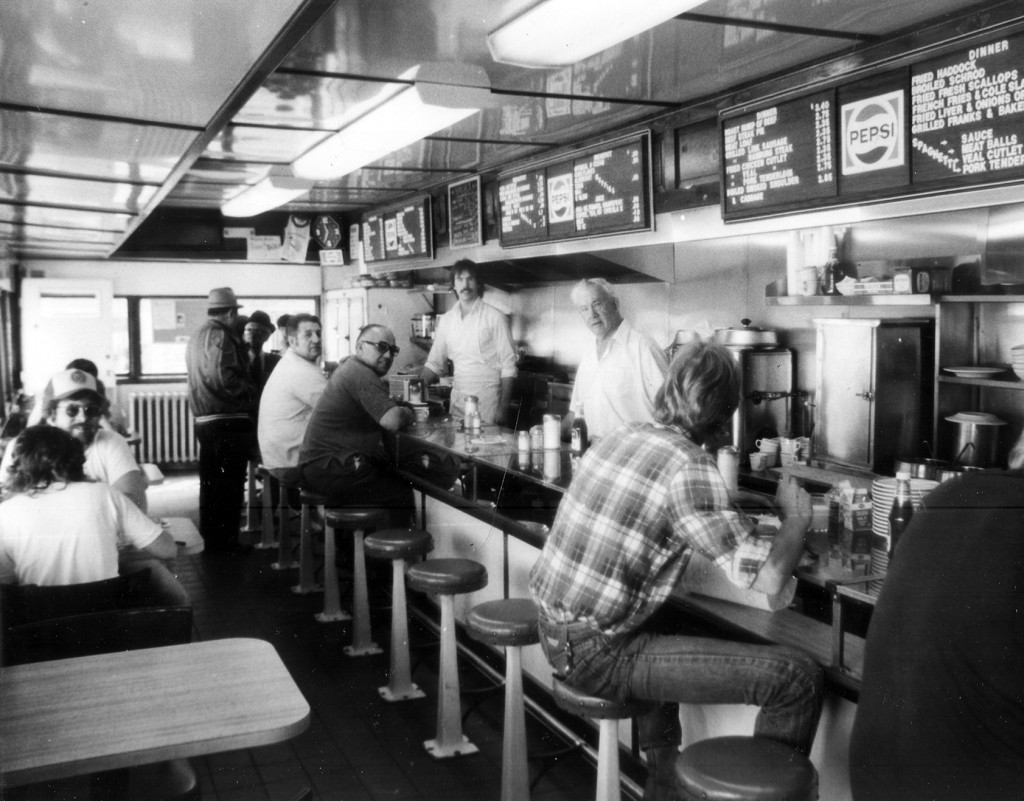 Buddy Fennell was a fixture behind the counter at the Capitol Diner. He passed on his methods and work ethic to his son, Bob, far left.