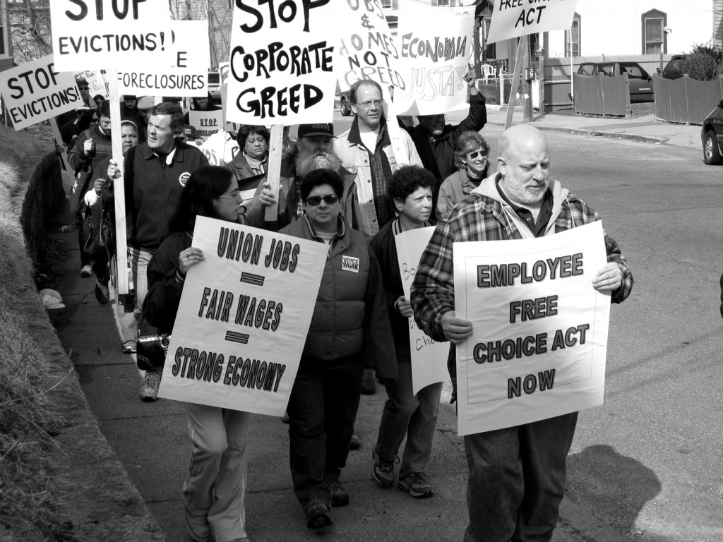 The North Shore Labor Council's advocacy for union workers includes walking the picket line when necessary
