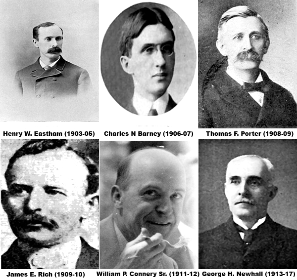 Mayors Eastham, Barney, Porter, Rich, Connery, Newhall