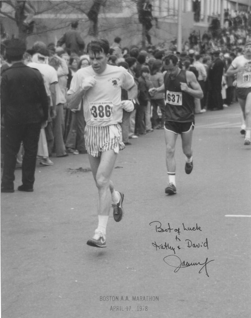 john running a marathon