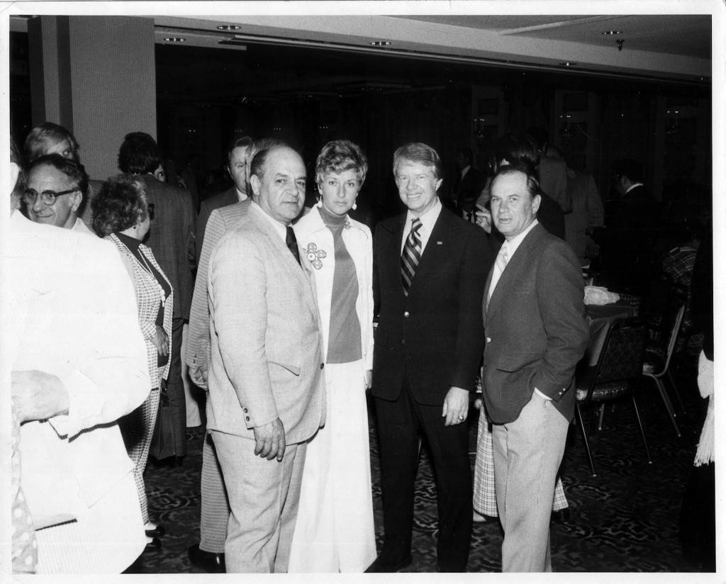 Sen, Walter Boverini, his sister-in-law, Jacqueline Whyte, President Jimmy Carter and Speaker of the House Tom McGee.