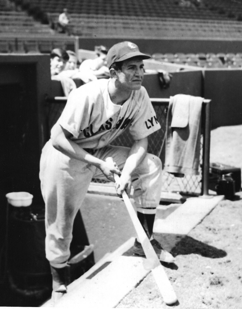 harry agganis in baseball uniform at fenway park