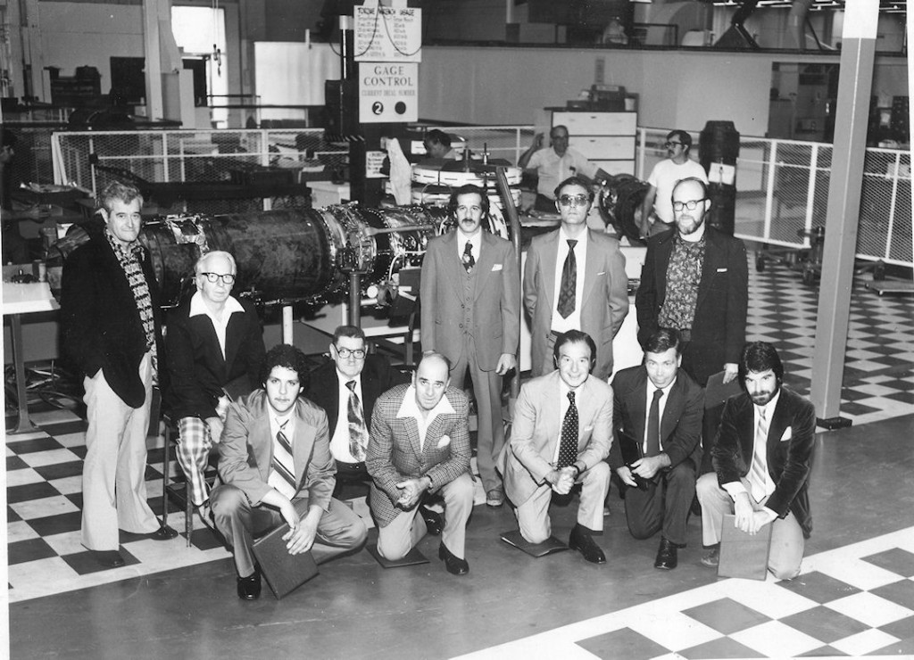 Al Struzziero, front row third from right, and his son, Bob front row far right