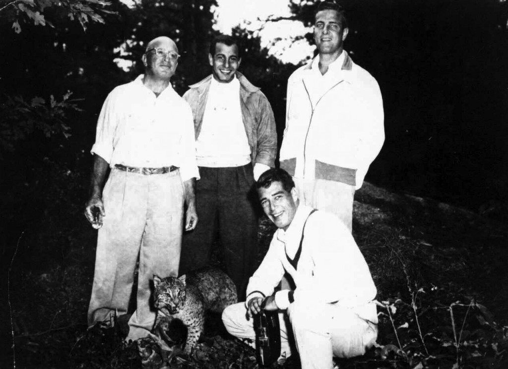 Martin Goldman with his father, Charles and his brothers, Harris and Bob