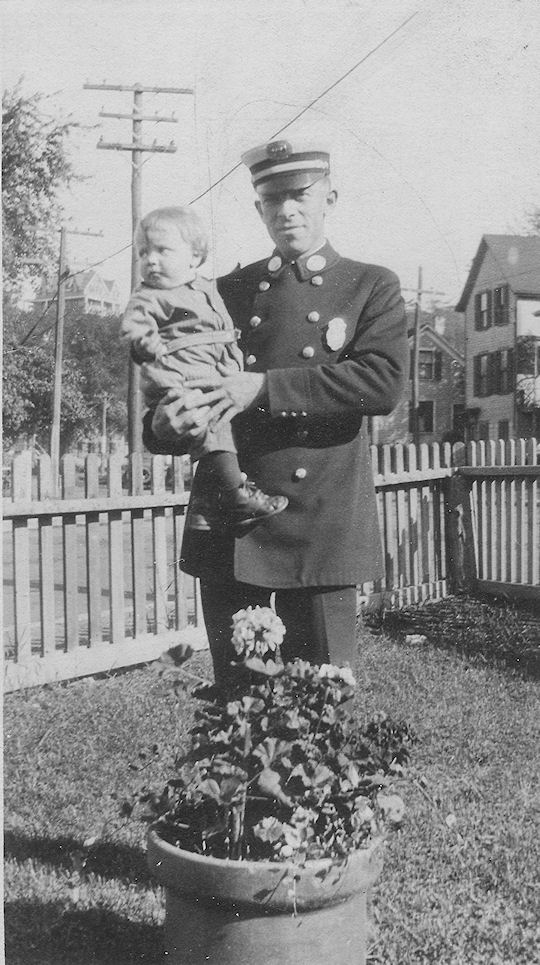 Joe Sr. dressed in fire chief uniform