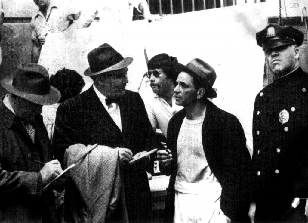 John Nerich, second from left, was an extra in a movie starring Peter Falk
