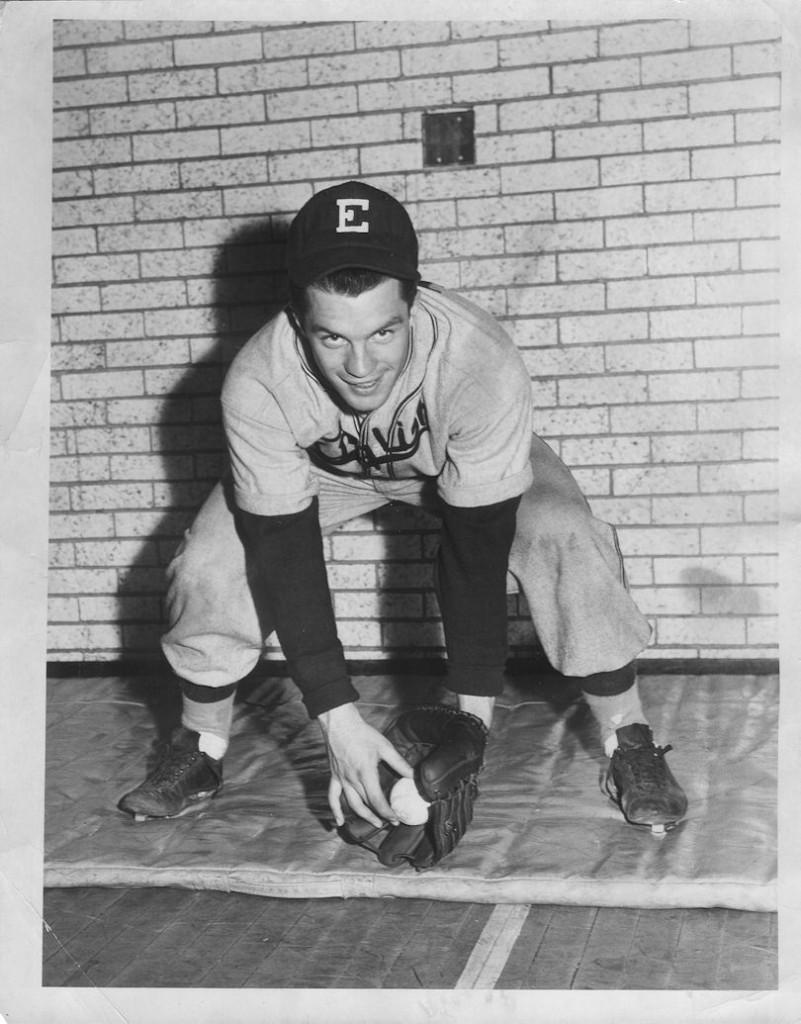John in baseball uniform