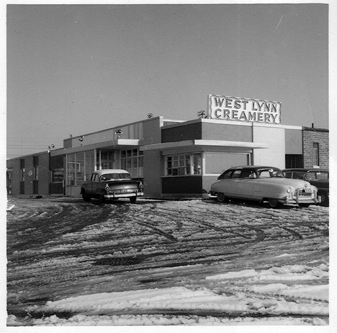 Original West Lynn Creamery plant in the early 1950s