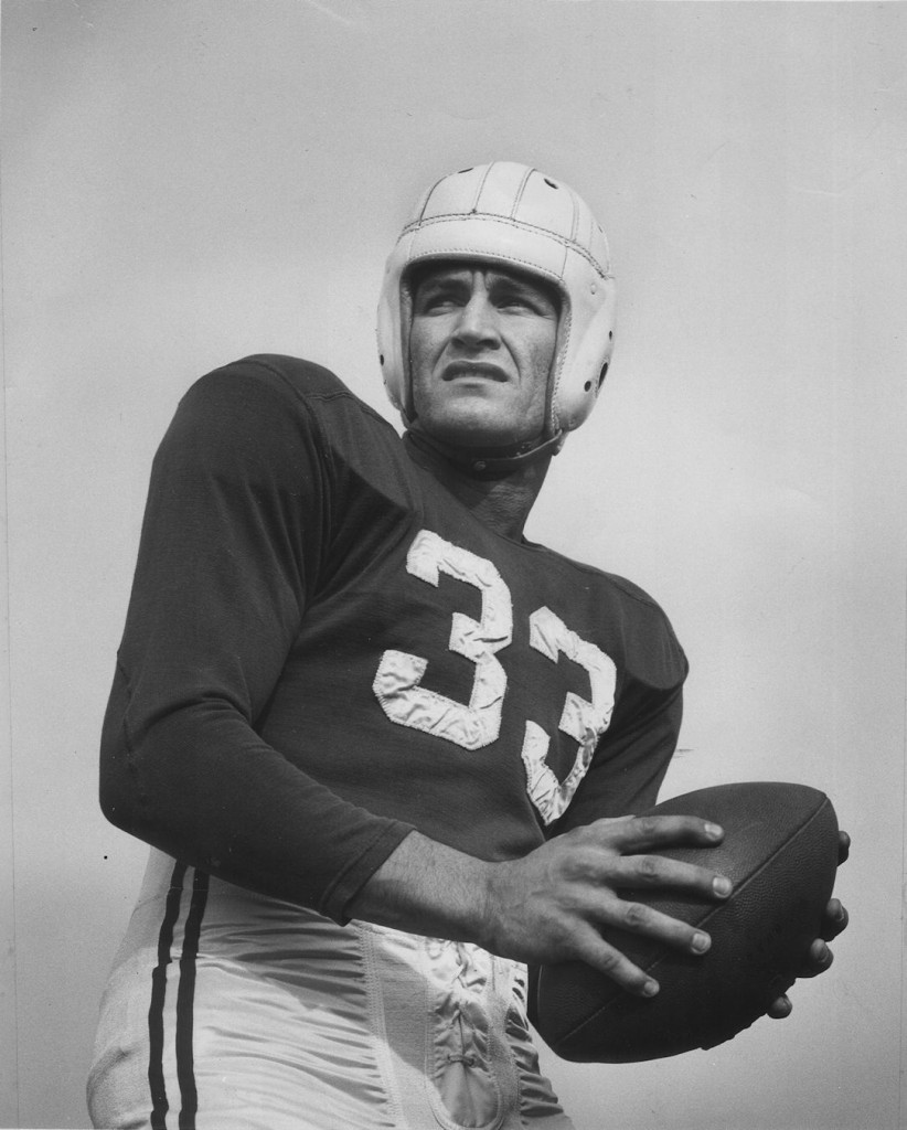 Harry Agganis in football uniform