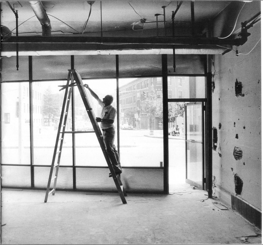 picture of George Koukounaris working on a room