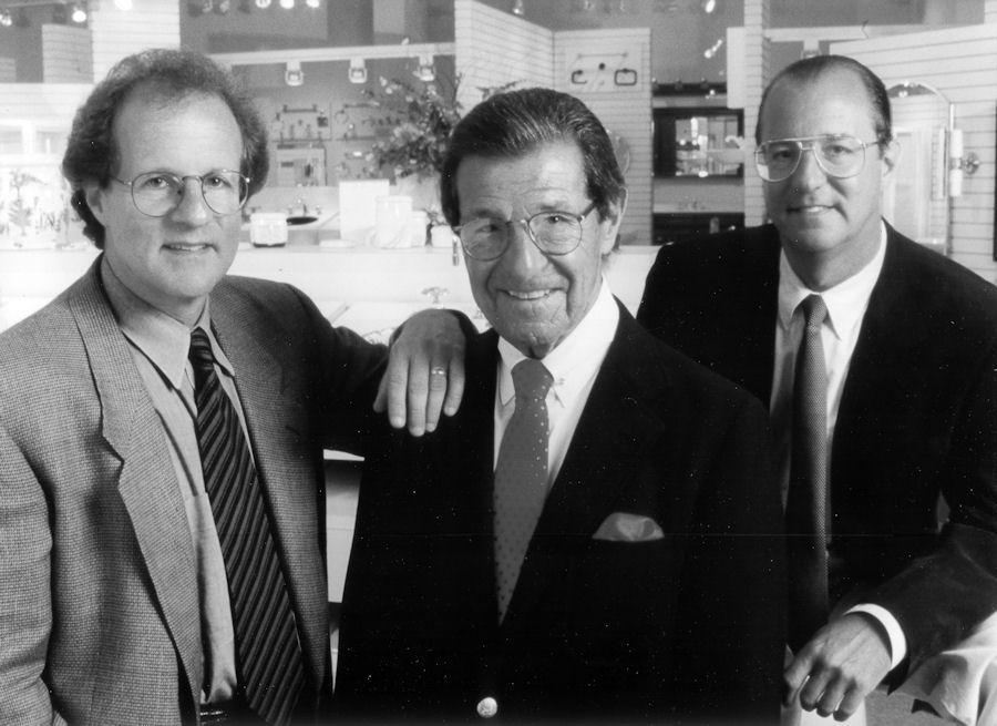 Bernie Berk, center and his sons Bob, left, and Jim